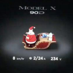 El último Easter Egg de Tesla llega con sabor navideño