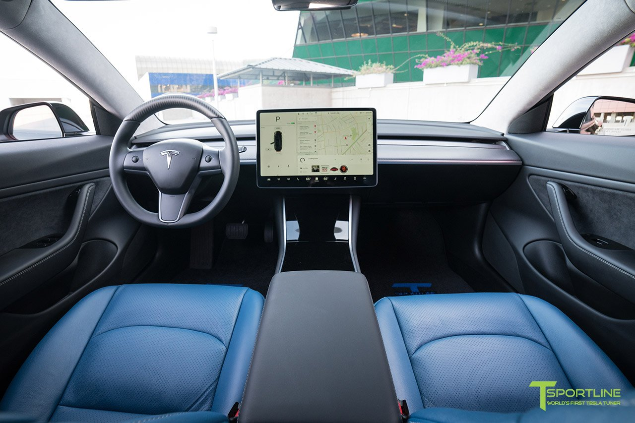 Tesla Model 3 Space X Blue Custom Leather Interior 2_c1d7cfe3 B5a5 4898 95dc Ccc14d2eccba  | Forococheselectricos