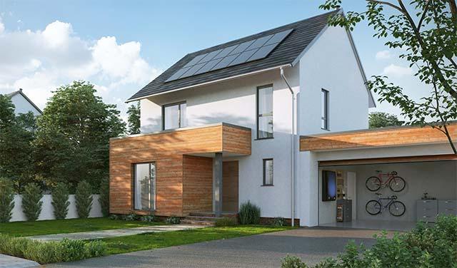Paneles solares en vivienda