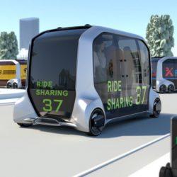 Toyota presenta un vehículo de reparto autónomo, que será vendido a Amazon, Pizza Hut, Uber, Mazda y DiDi