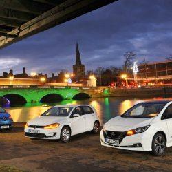 Nissan LEAF, Renault ZOE y Volkswagen e-Golf. ¿Qué coche eléctrico es mejor?