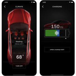 Tesla actualiza su app, añadiendo nuevas funciones para el invierno