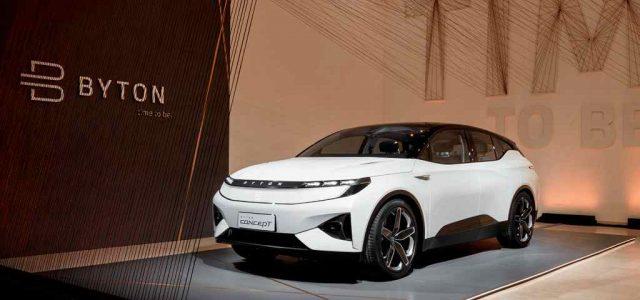 Byton presenta su primer modelo en Europa, y anuncia el lanzamiento de una berlina eléctrica