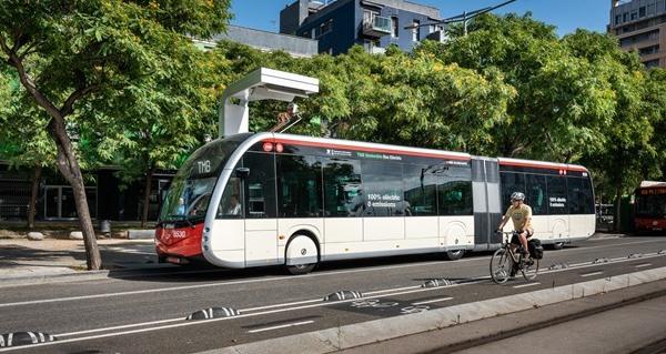 Cargador autobuses eléctricos Barcelona