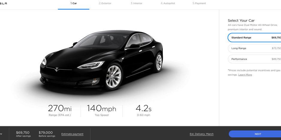 8c27c6554 Tesla añade un pack de baterías Standard al Model S y rebaja sus ...