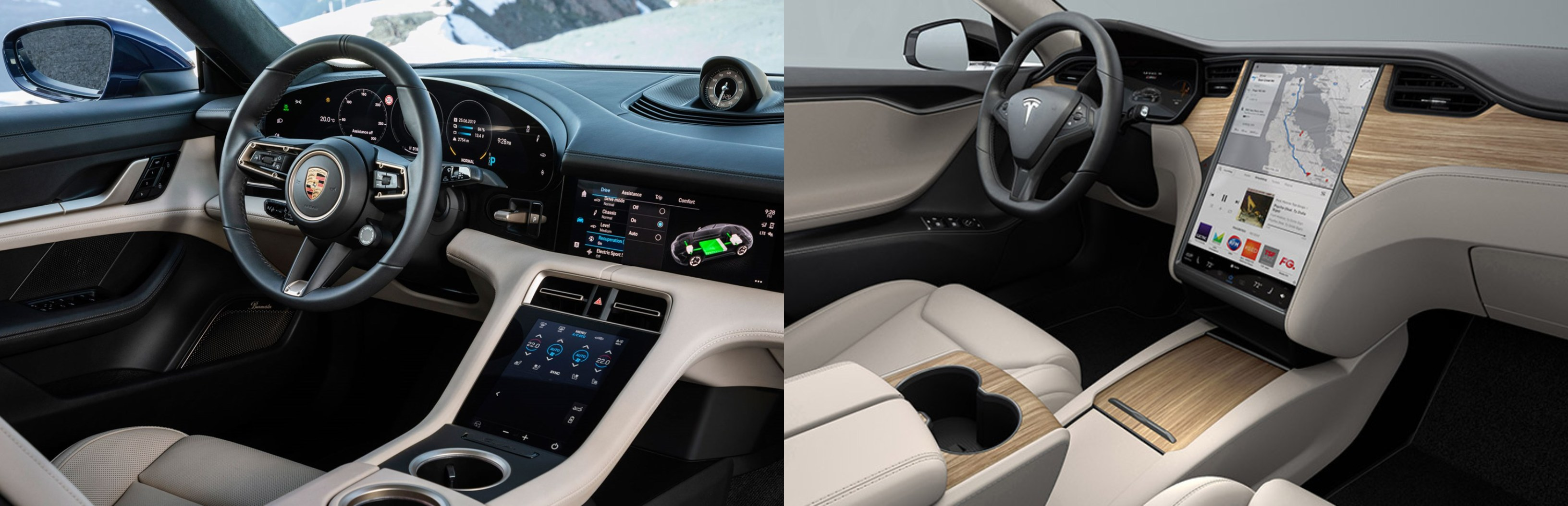 Tesla Model S Performance vs Porsche Taycan Turbo