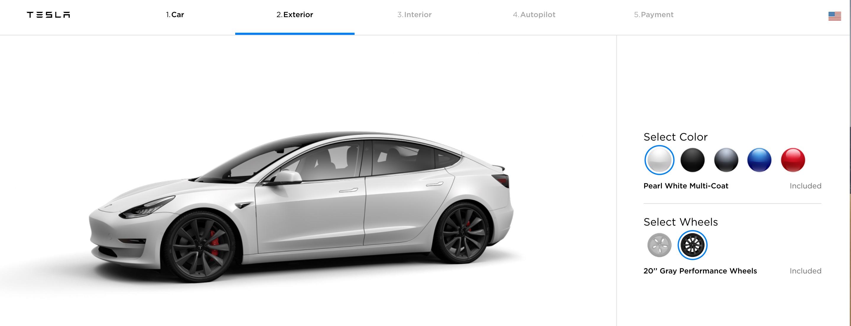 Viskerblad Tesla Model 3