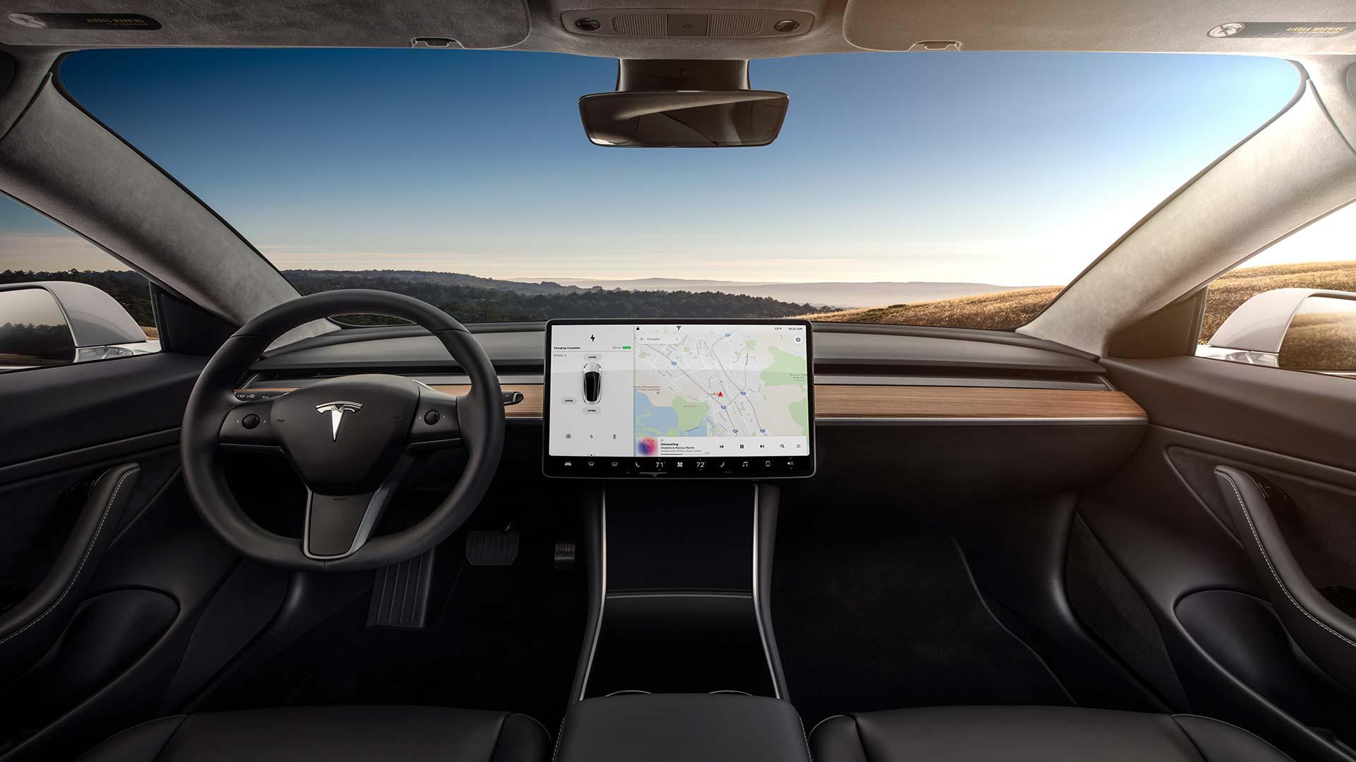 Tesla actualiza el interior del Model 3 con las novedades ...