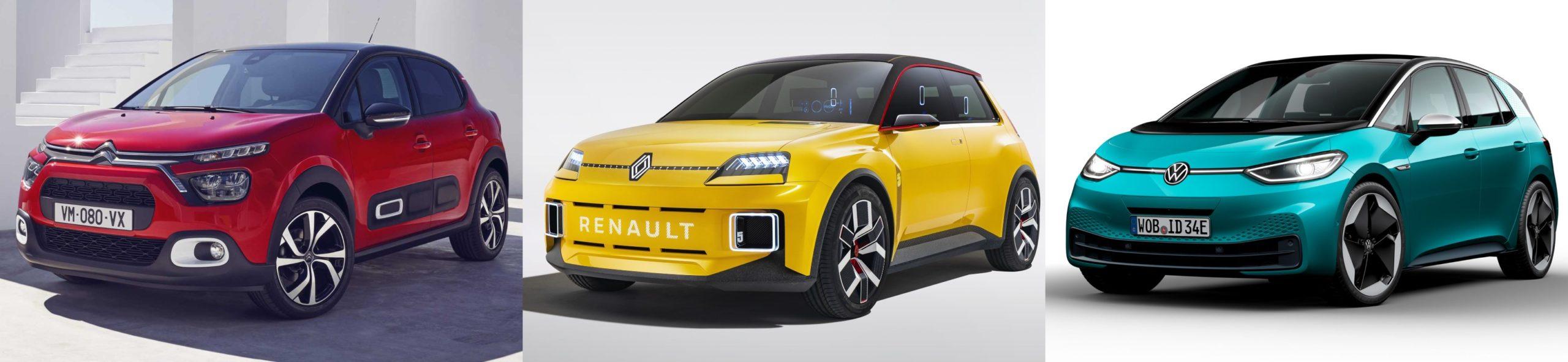 Citroën ë-C3, Renault 5, Volkswagen ID.1: tres formas diferentes de entender el utilitario eléctrico asequible que llegarán en 2023 a un precio de 20.000 euros - Forococheselectricos