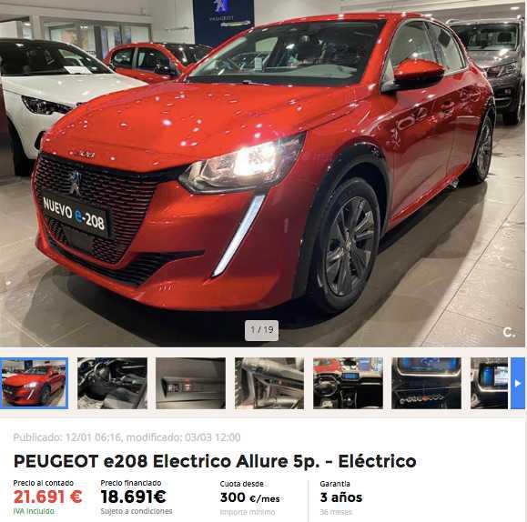 Peugeot e208 eléctrico