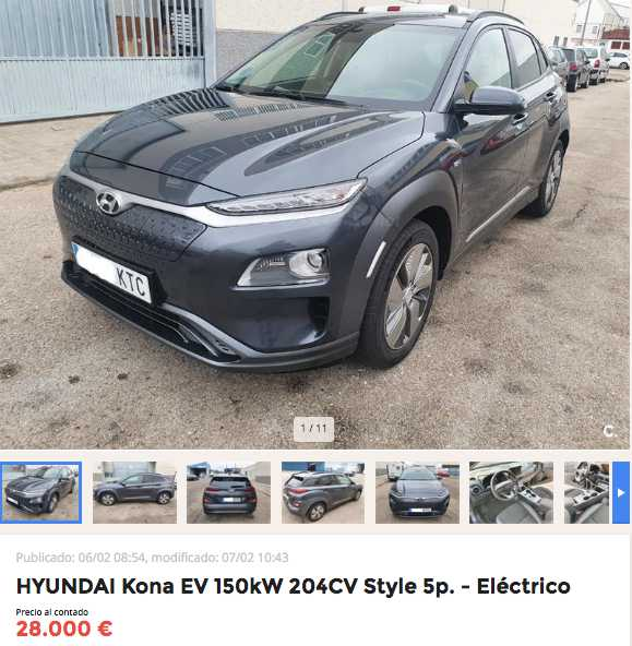 Hyundai Kona EV 204 CV