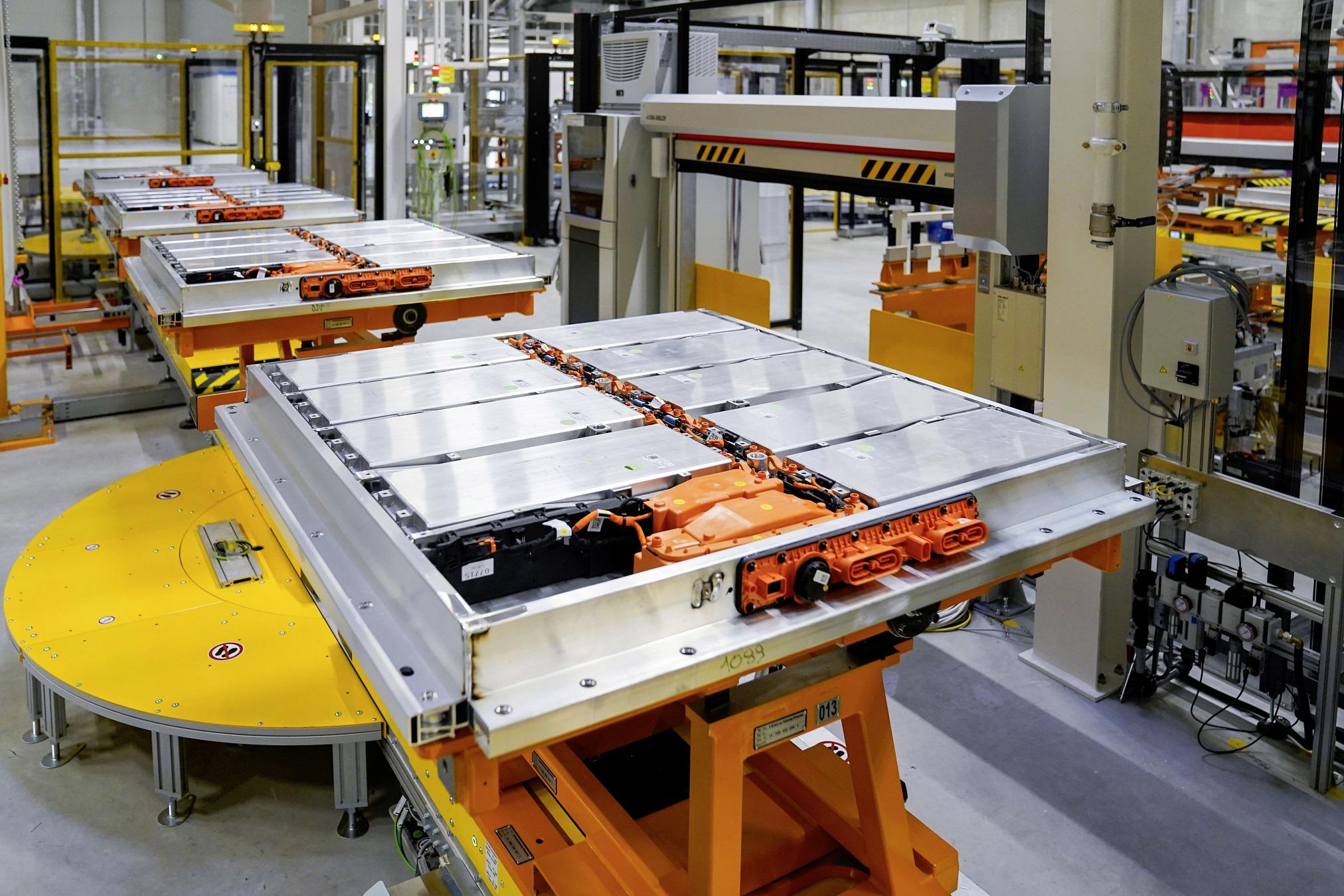 Producción de baterías de Volkswagen.