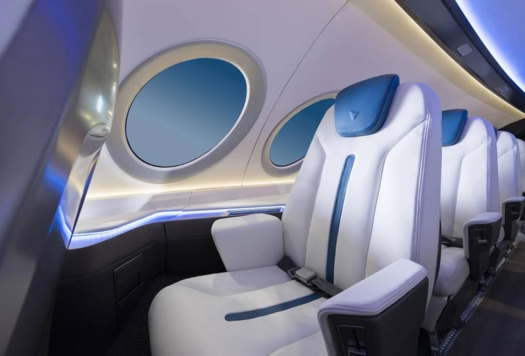 Interior Enviaton avión eléctrico