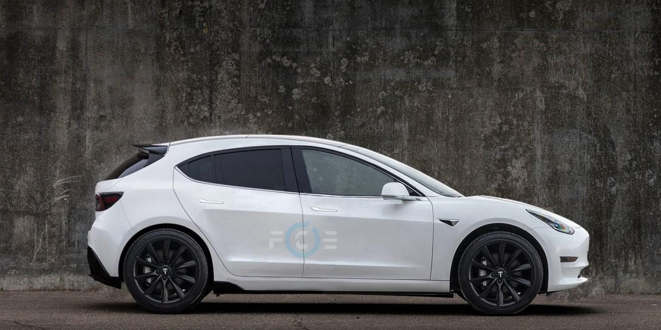 Render Tesla Model C