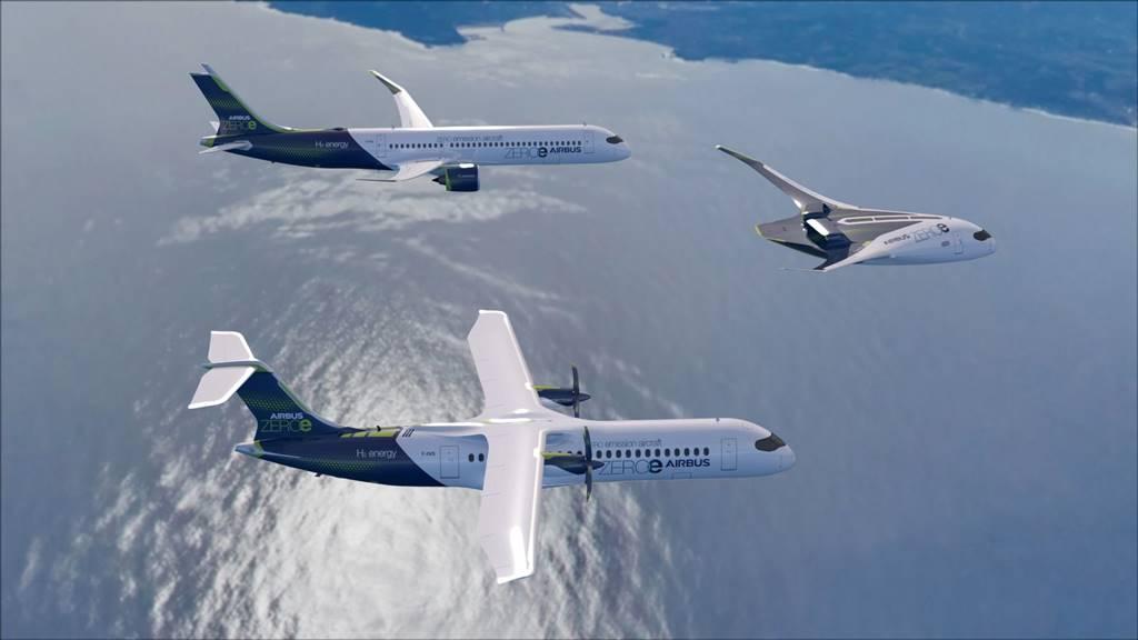Airbus aviones a hidrógeno líquido para 2025