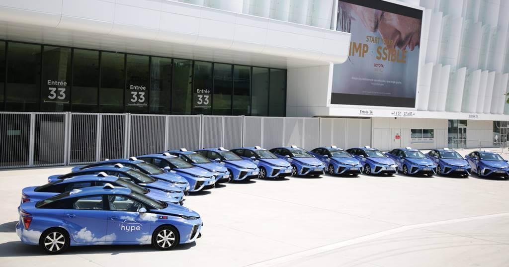 Taxi con coches a hidrógeno para Madrid
