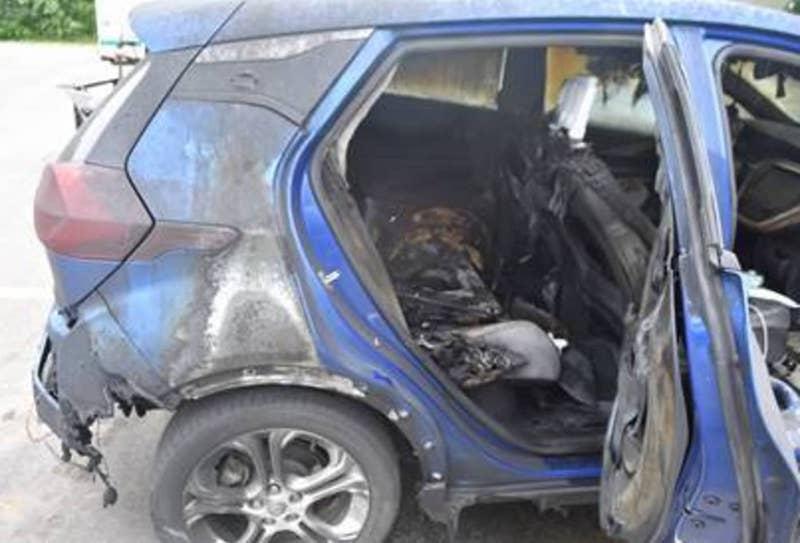 Chevy Bolt EV quemado