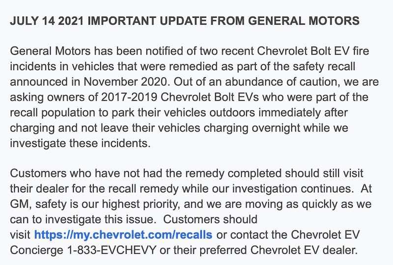 Noticia 14 de Julio 2021 de general motors
