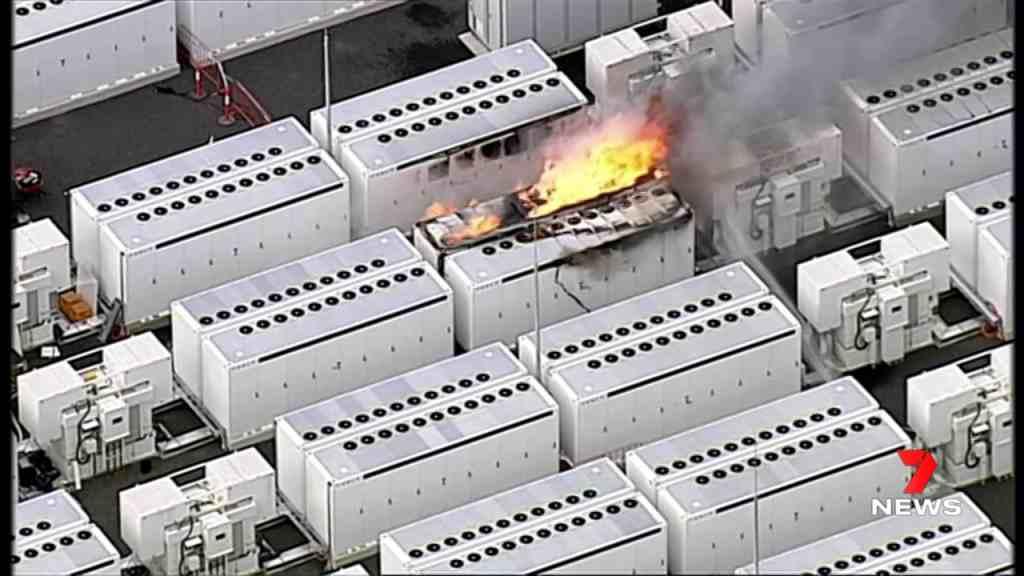 tesla megapack incendio