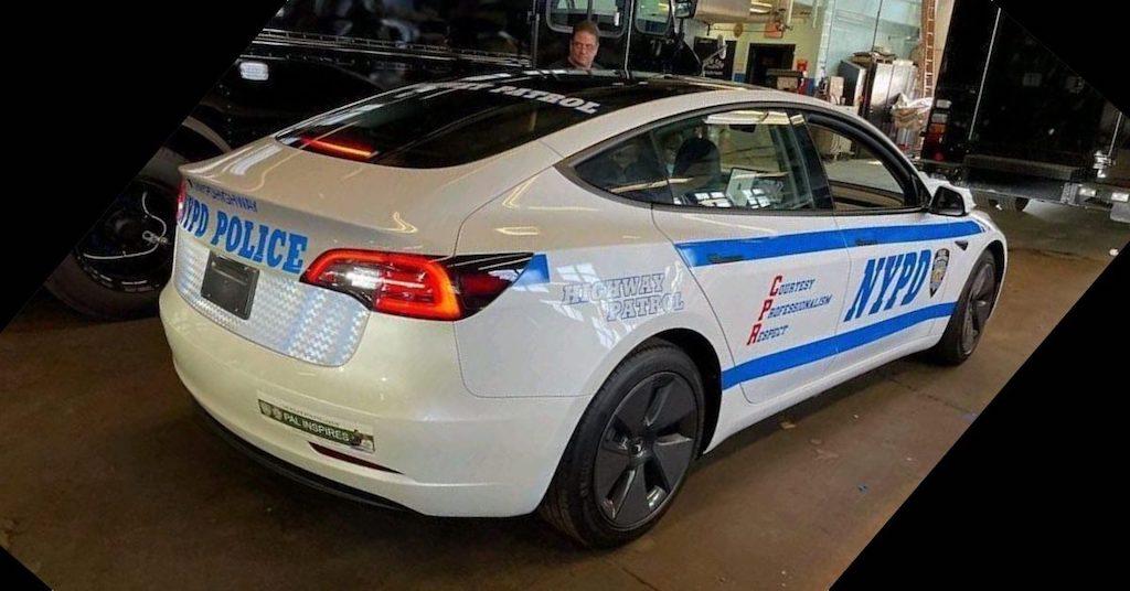policía nueva york Tesla Model 3