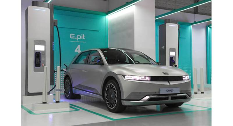 Hyundai supercargador coches eléctricos