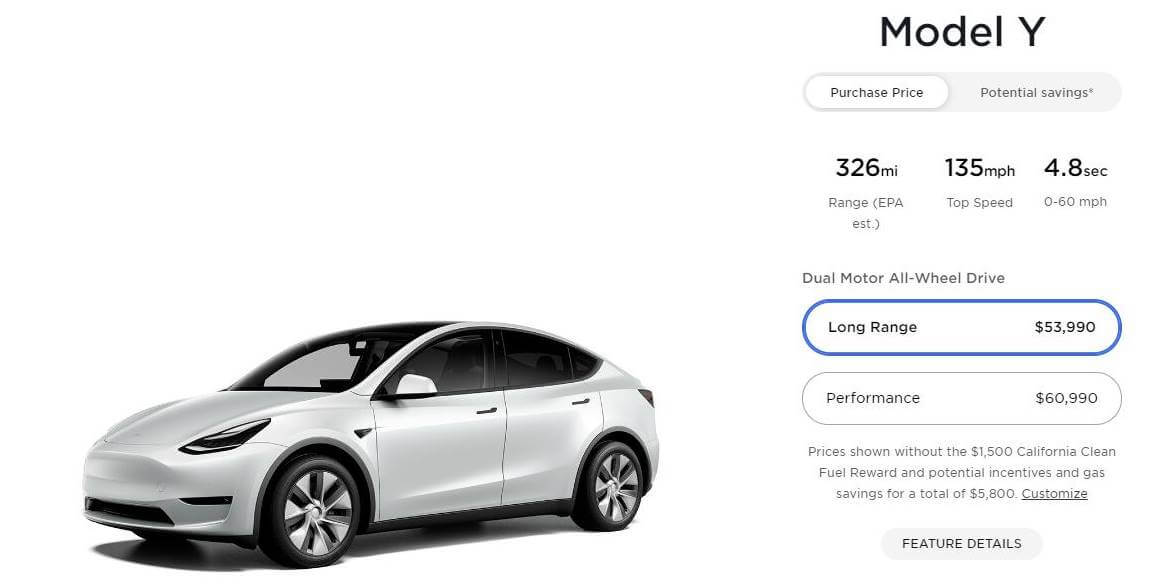 Tesla Model Y precio