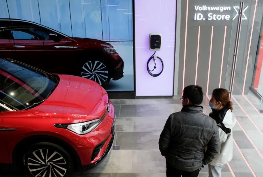 Tienda de coche eléctrico Saic-Volkswagen en China