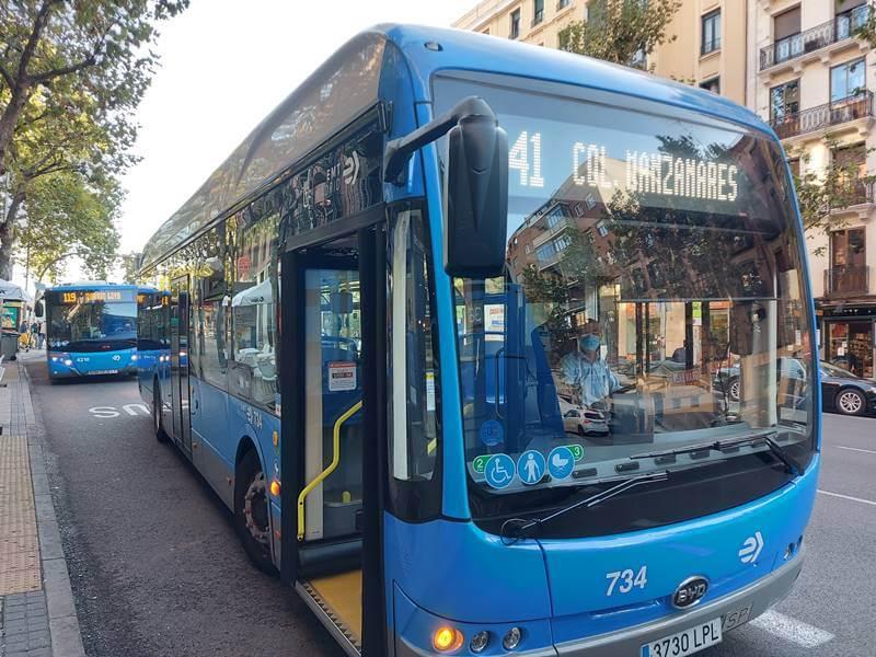 autobus madrid byd