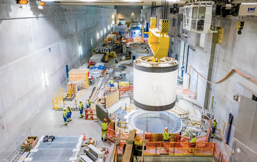 Hidroeléctrica Nant Drance Sistema de bombeo