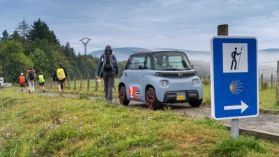 El Citroën Ami completa el Camino de Santiago francés, 764 km en 8 días
