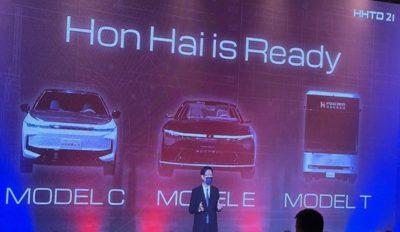 Foxconn presenta tres coches eléctricos: Model C, Model E y Model T