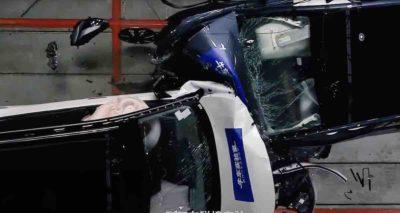 ¿Qué pasa cuando se estrella un Tesla Model Y contra un Volkswagen ID.6 CROZZ? (vídeo)