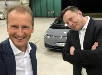 Elon Musk afirma que Volkswagen liderará el mercado del coche eléctrico