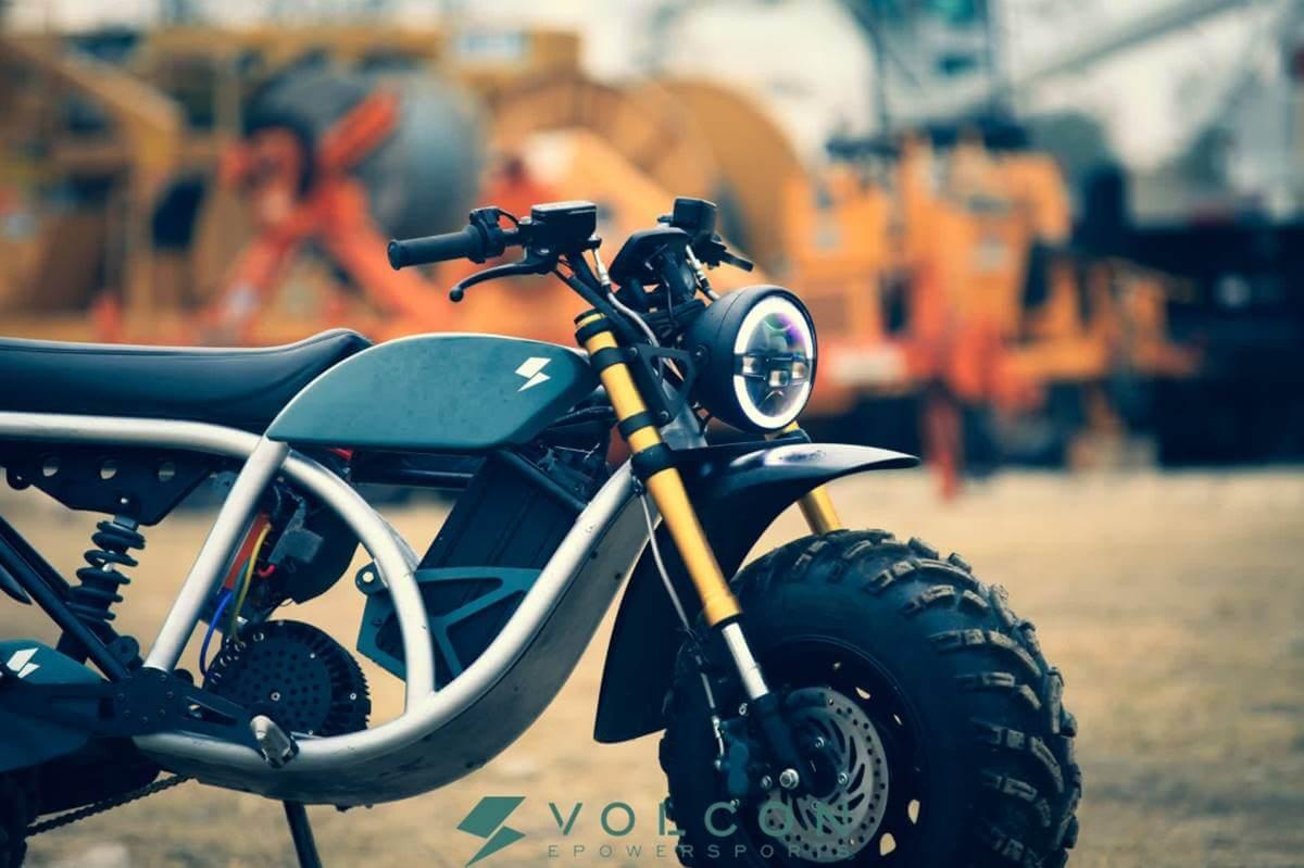 volcon grunt salida a bolsa moto eléctrica